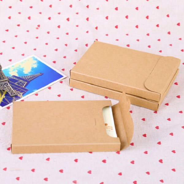 50pcs  lot kraft paper  black white gift boxes envelope box