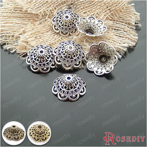 (20474)20PCS 8*18MM Antique Silver Plated Alloy Big Beads Caps Diy Handmade Jewelry Findings Jewelry Accessories Wholesale