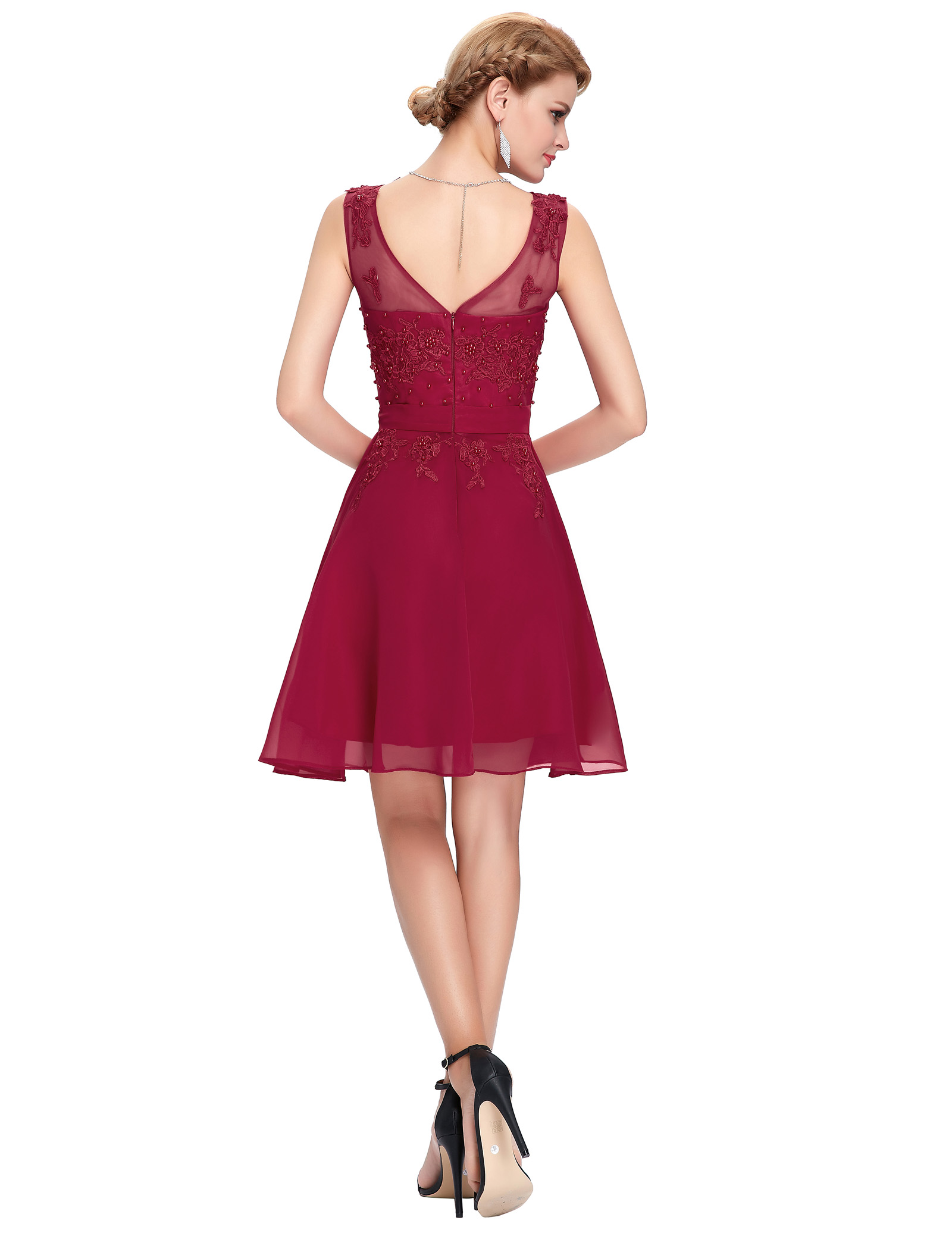 Cocktail dresses 2017 grace karin chiffon appliques beaded elegant cocktail dresses 2016 grace karin chiffon appliques beaded elegant burgundy black short cocktail dresses cheap party dress al63 ombrellifo Image collections