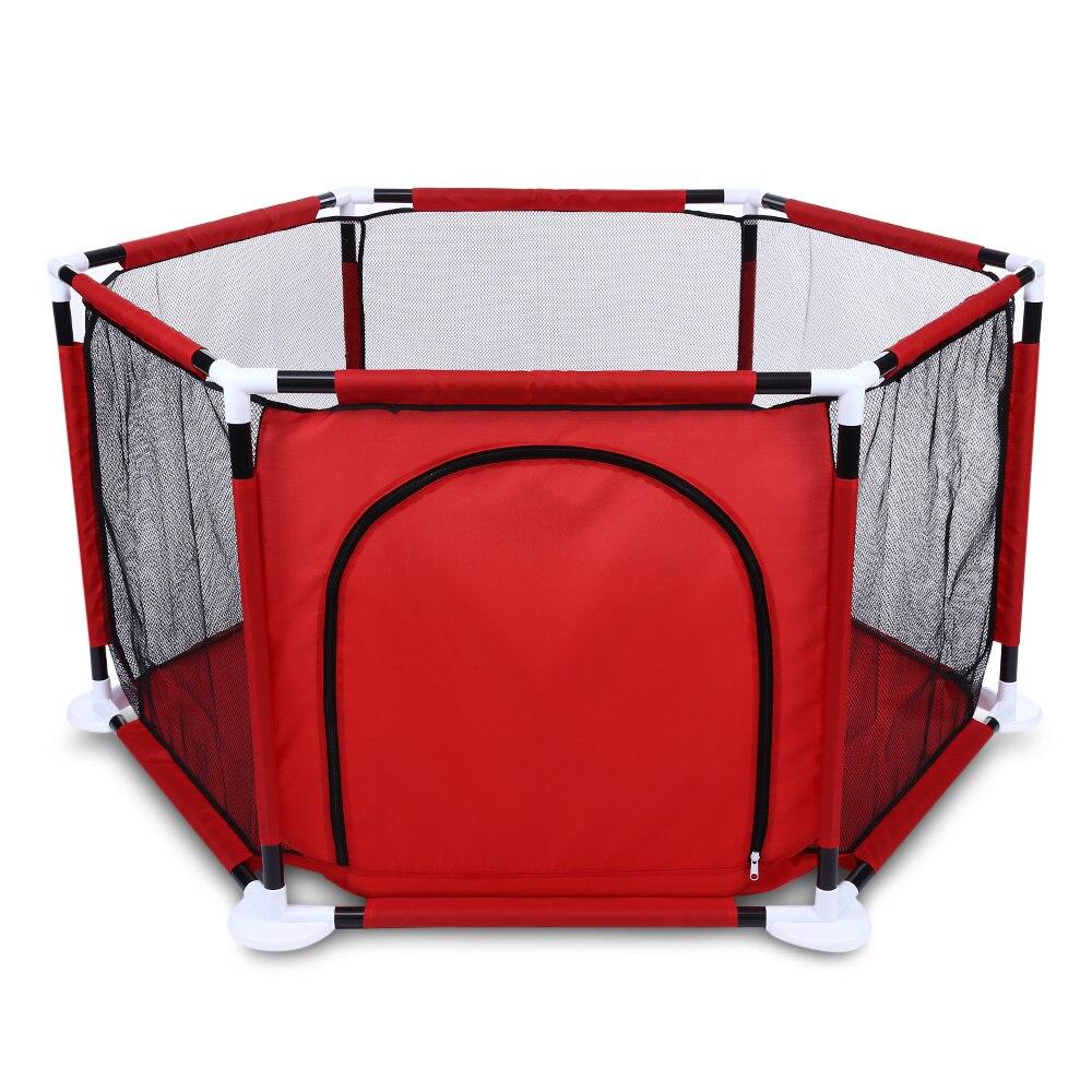 Pliable Sport Enfants Tente Soulevées Net Fil Hexagonale Piscine À Balles Jouer Clôture Parc À Bébé Enfants Jouet Tente Bébé En Plein Air Intérieur Parcs Pour Enfants