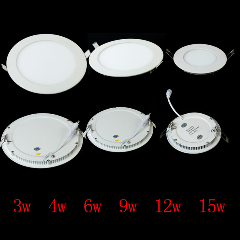 60 Pcs 9W round dimmable LED downlight emergency LED panel / painel light lamp for bedroom luminaire