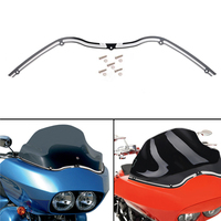 Motorcycle Black Silver Front CNC Aluminum Performance Machine Merc Black Windshield Trim For Harley Road Glide