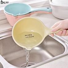 Bxlyy бытовой Пластик ложки с длинной ручкой, совок можно повесить Кухня Пособия по кулинарии воды ложка для грудничков, душевые водно ложка Кухня Accessories.7z