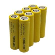 PINGTOU  1PCS 14500 700-800mAh 3.7V Li-ion Rechargeable Batteries Lithium for Led Headlamps Flashlight Toys FLAT Head YELLOW