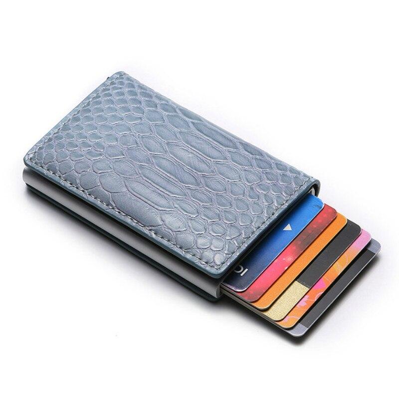 BISI GORO  Rfid Blocking ID Credit Card Holders PU leather Men Wallets Money Bag Smart Mini Magic Wallet Male Women