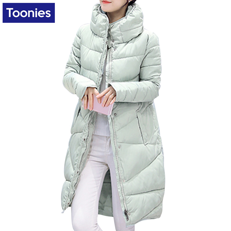 Korean Slim Down Loose Thickening Jacket Women Outwear High Quality Winter Long Coat Female Cotton Padded