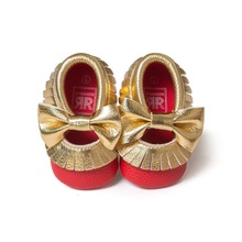 red golden baby girls boys butterfly knot sneakers shoes baby first walkers newborn infantil bebe shoes by Pu leather 0~18month