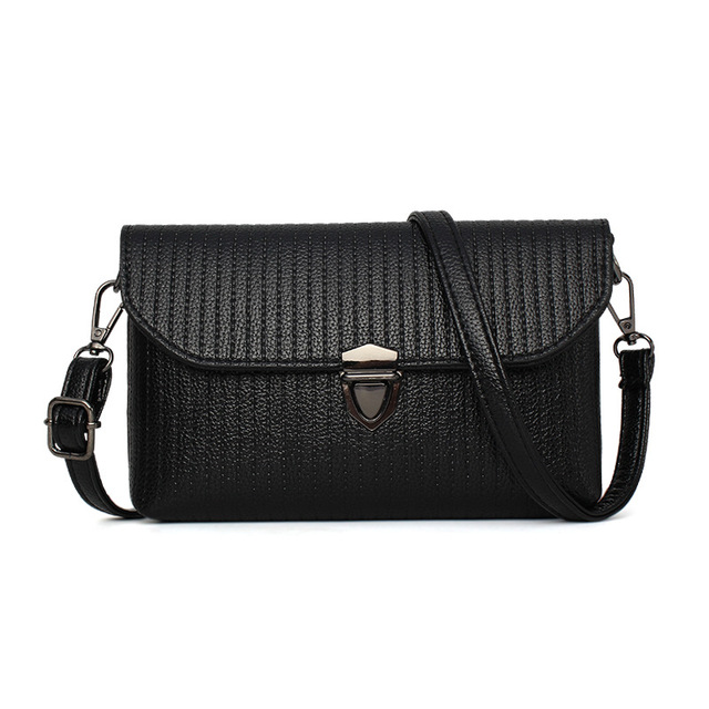 Fashion Elegant Hand Women Handbags Messenger Bag Classic Small Black Solid Envelope Shoulder Simple Evening