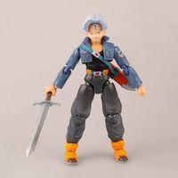 13 CM Anime Dragon Ball Z Normalnym i Super Saiyan Kufry Torankusu PCV Figurka toy Model Prezent Darmowe Zakupy