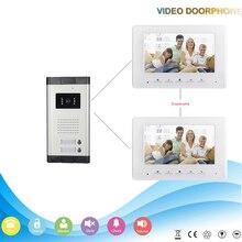 Chuangkesafe Multi-apartamento con conexión de cable de 7 pulgadas de pantalla TFT-LCD CMOS de la cámara de vídeo del sistema de intercomunicación teléfono de la puerta