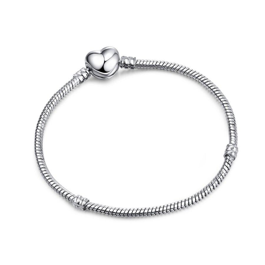 Высокое качество 16-21 см змейка цепь звено браслет подходящая Европейская Подвеска DIY браслет для женщин DIY Мода для украшения подарка - Окраска металла: C002