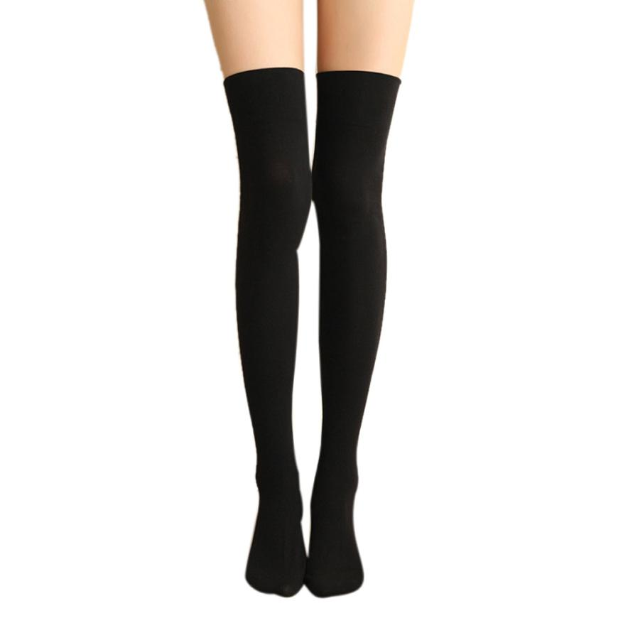 f01e7044ea7 Women Sexy Thigh High Over The Knee Stockings Long Cotton Winter Warm  Leggings Stockings Calcetines Largos