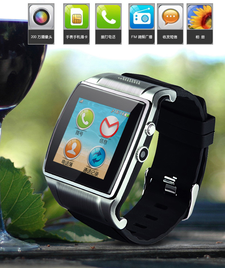 Newest Smart Bluetooth watch phone mobile unlocked phone L19 Single sim card support TF card and MP4 Bluetooth touch screen L18