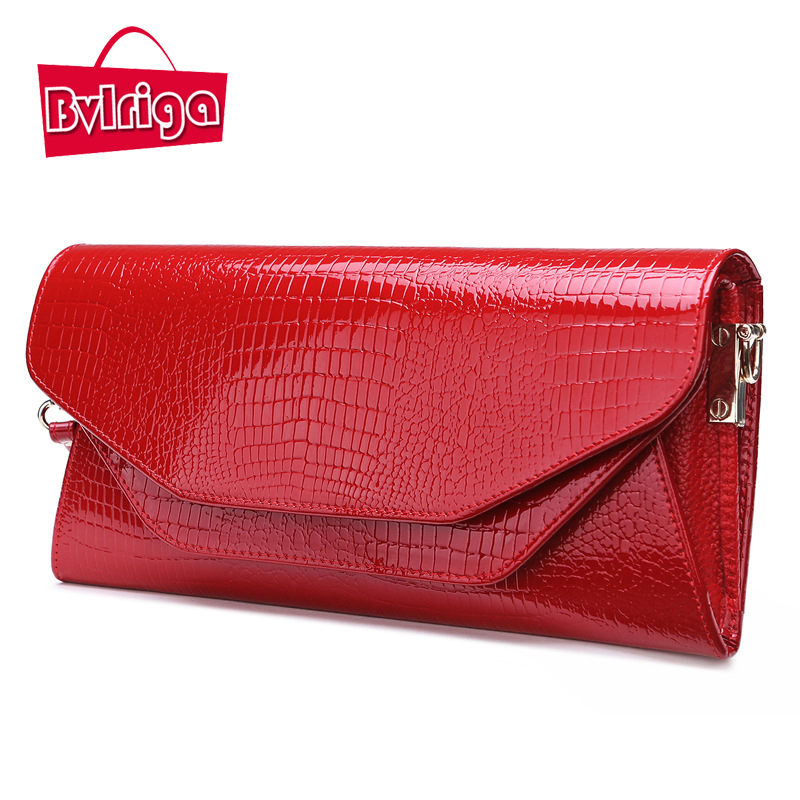 BVLRIGA Famous brands genuine leather bag clutches women ladies hand bags women