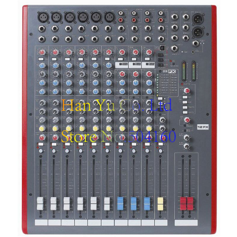 High quality Audio Mixer 12FX 12-channel professional mixer / conference / KTV / stage performance microphone