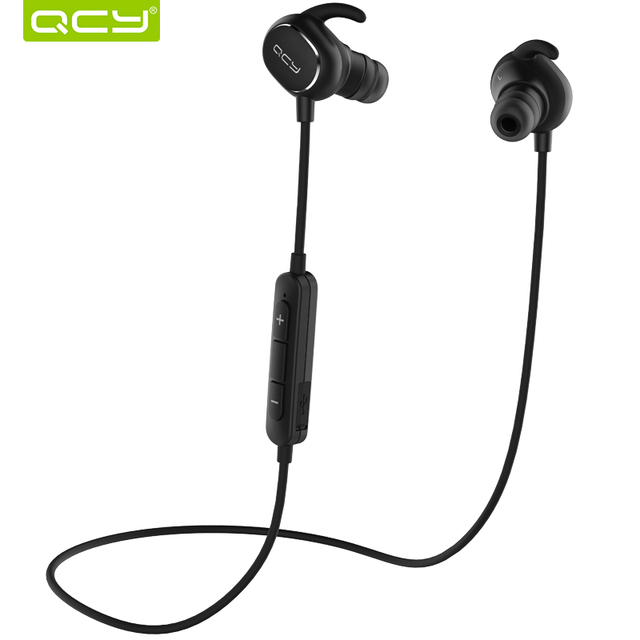 QCY QY19 English voice IPX4-rated sweatproof stereo bluetooth headphones wireless sports earphones aptX headset for all phone
