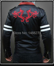 Alex Mercer Prototype Embroidered Leather Jacket Coat Christmas Cosplay Costume Customize High Quality