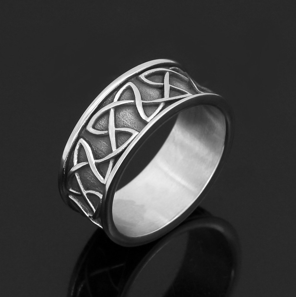Celtic amulet 316L stainless steel ring