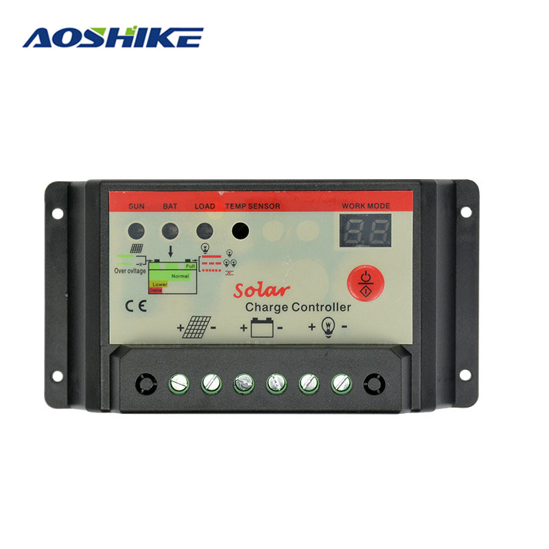 AIYIMA Flexible Solar Panel Cells Solar <font><b>Battery</b></font> Charger Controller 12V 24V 30A Controller Panneau Solaire Regulator Switching