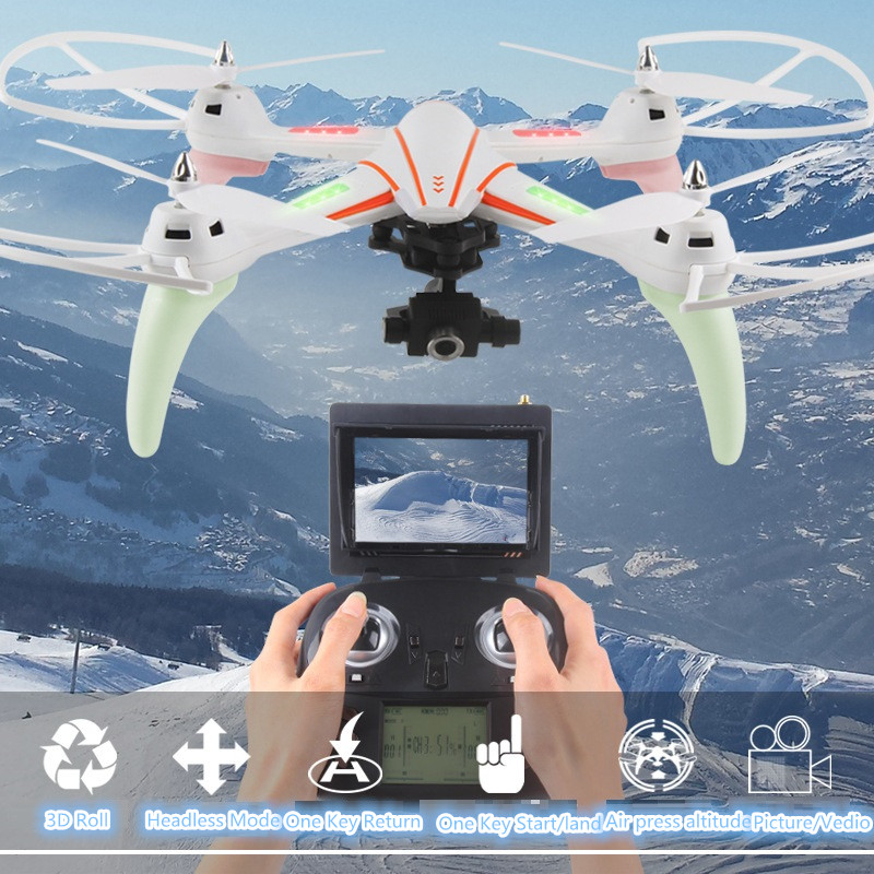 2017 large 5.8G FPV RC Quadcopter Q696 2.4g 2-Axis Gimbal Altitude Hold RC Helicopter drone With 1080p HD Camera vs Q333 X8HG image