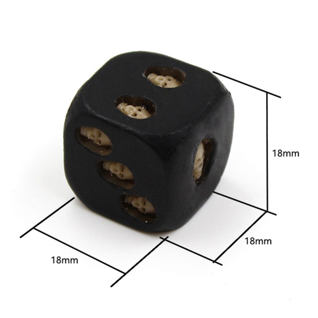 Dice with 3D Skull Death Black Skull Dice D6 Novelty Black Resin Skull Dice Traditional Board Game Card Game Toys in Board Games from Sports Entertainment