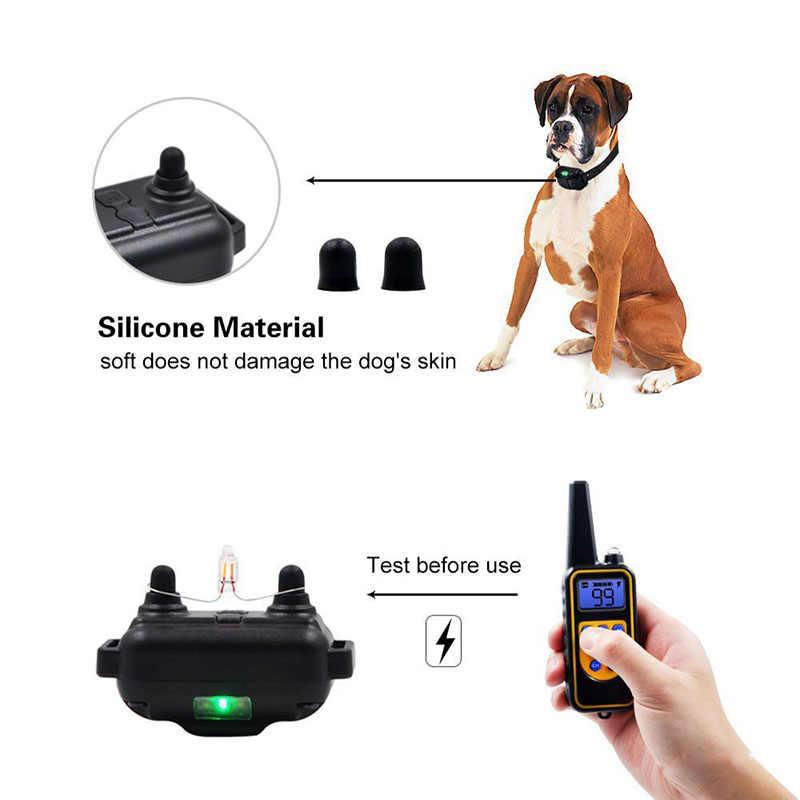 800 м дистанционный ошейник для дрессировки собак Электронный ударный ошейник с ЖК-дисплеем водонепроницаемый перезаряжаемый ошейник для дрессировки собак