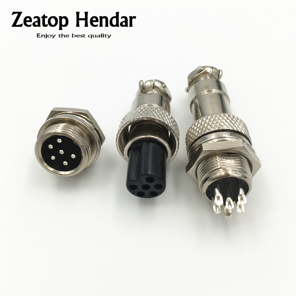 5pcs XLR 5 Pins 12mm Audio Cable Connector Chassis Mount 5 Pin Plug Adapter New