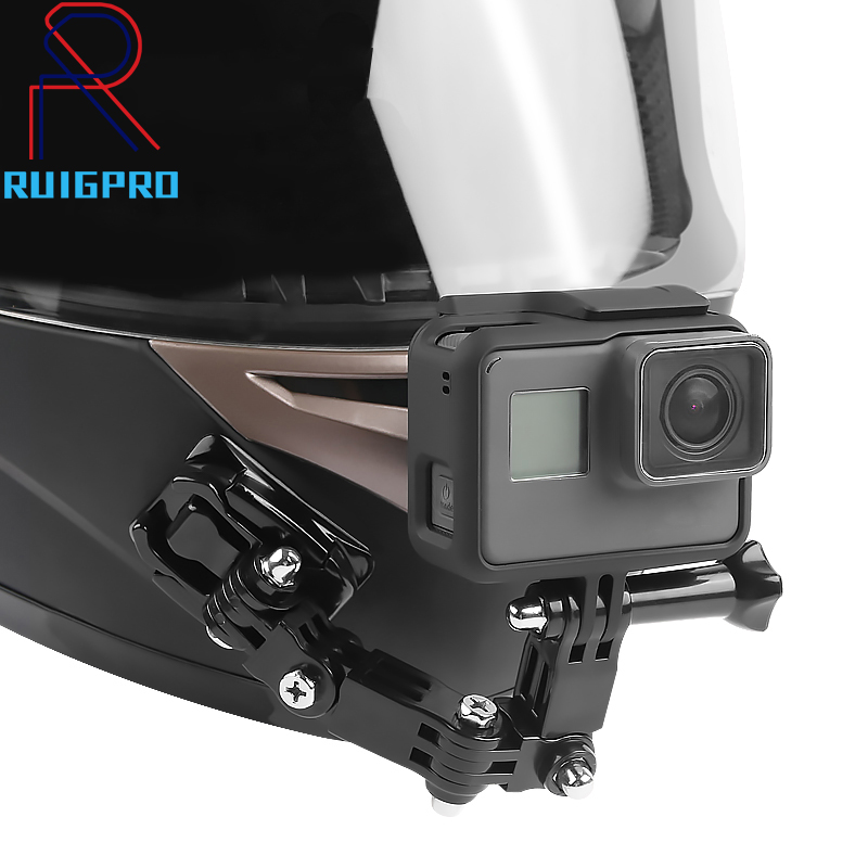 Gopro Accessories 4 Ways Turntable Button Mount Go Pro Hero 4 5 6 7 SJCAM SJ4000