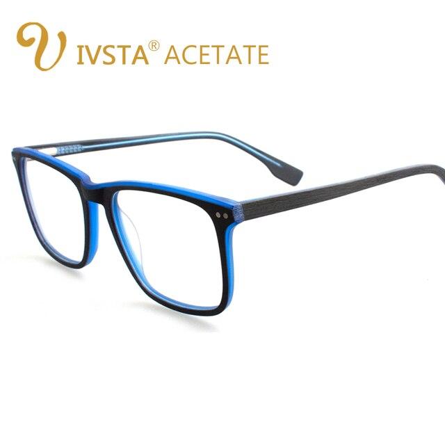 IVSTA Homens Óculos De Madeira Moldura de Madeira Feitos À Mão Moda Big  Oversized Quadrados Prescrição c7b70fb66e