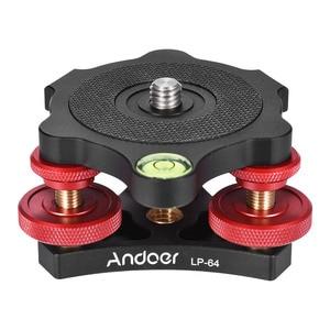 "Image 4 - Andoer LP 64 Tripod Leveling Base Tri wheel Precision Leveler with Bubble Level 3/8"" Screw Aluminum Alloy Max. 15kg/33Lbs"