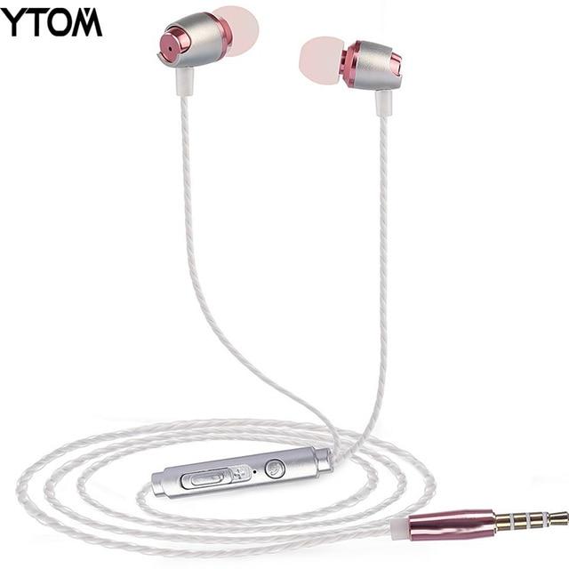חדש מתכת אוזניות מותג אוזניות עם מיקרופון עבור xiaomi THL בידוד רעש באוזן אוזניות iphone 6 5 huawei סמסונג אוזניות