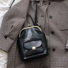Vintage Fashion Clip Women's Bag PU Leather Shoulder Crossbo