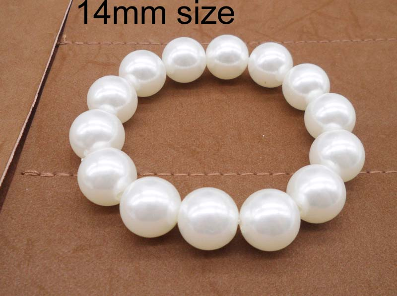 Fashion Jewelry 6mm~14mm Size classic Imitation Pearl bracelet for women accessories