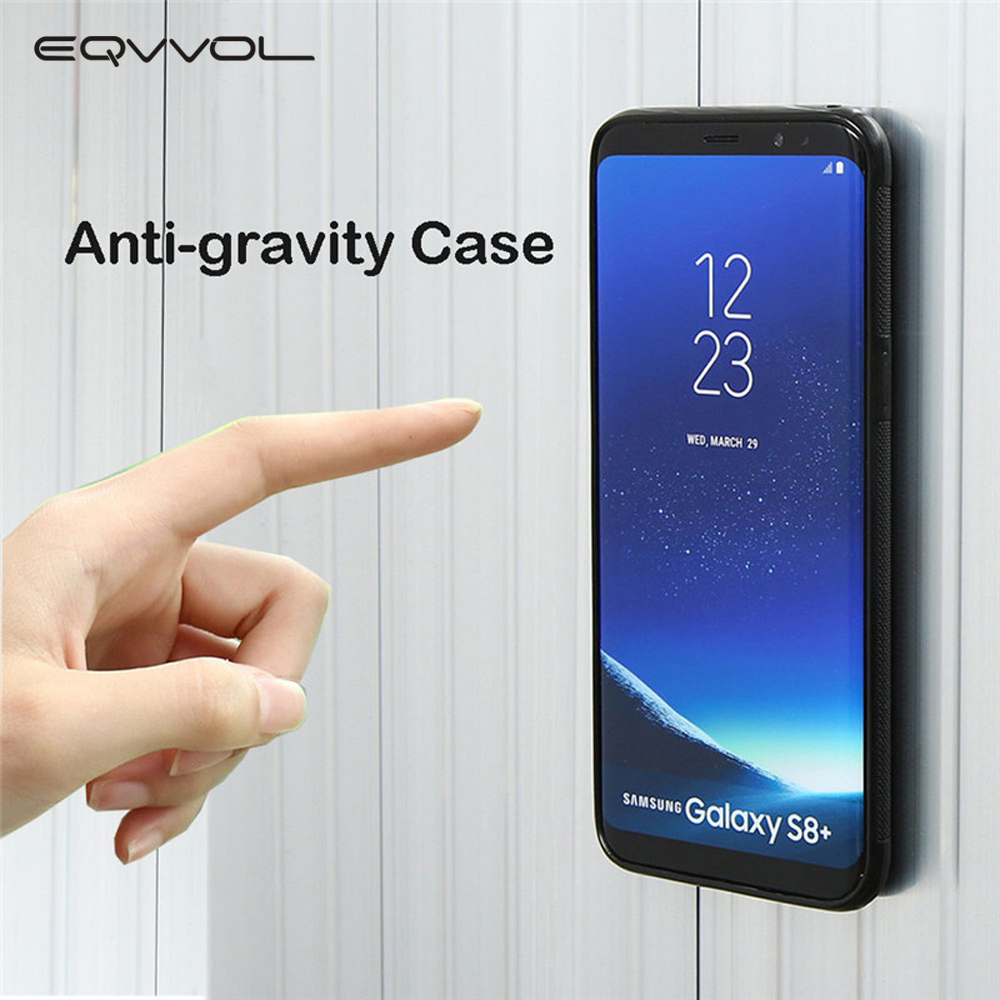 Eqvvol Fashion Anti Gravity Phone Case For Samsung S9 S8 S7 S6 S5 Edge Plus Note 8 7 5 4 Cases Antigravity TPU Phone Cover Coque image
