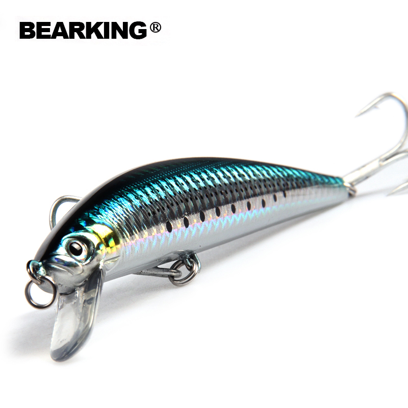 Bearking Bk17-M31 Wobbler Minnow 12cm 18g 1PC Fishing Lure 1.8m Deep Diving Depth Hard Bait Long Tongue Minnow floating Lure