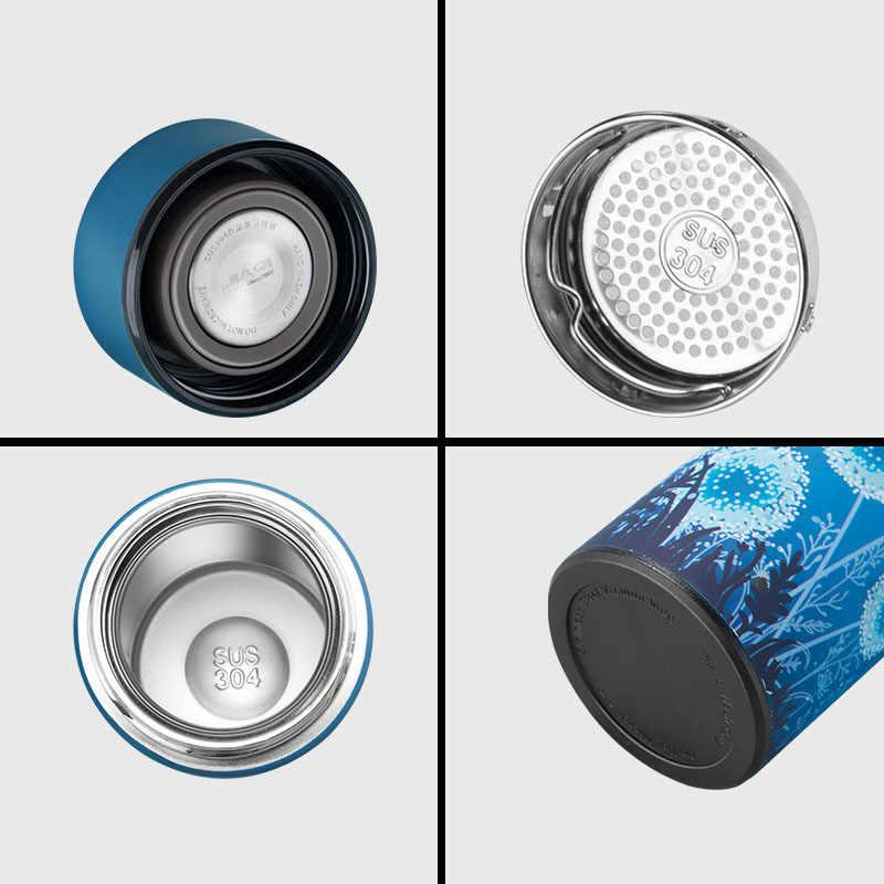 ZOOOBE ファッション二重壁魔法瓶ティーコーヒーマグカップステンレス鋼の真空フラスコで絶縁注入器 Thermocup 最高ギフト