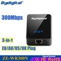 Bydigital 300 мбит Wi-Fi Ретранслятор Маршрутизатор Repetidor беспроводной точки доступа 3-в-1 2.4 Г Ракеты-Носители Сигнала 802.11N/B/G wi-fi roteador