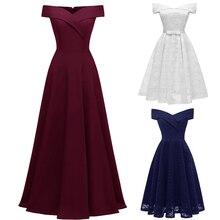 Encaje sencillo sin hombros Vestido elegante de dama de honor Vestido corto para dama de honor vestidos de cuello barco para Vestido de fiesta de boda