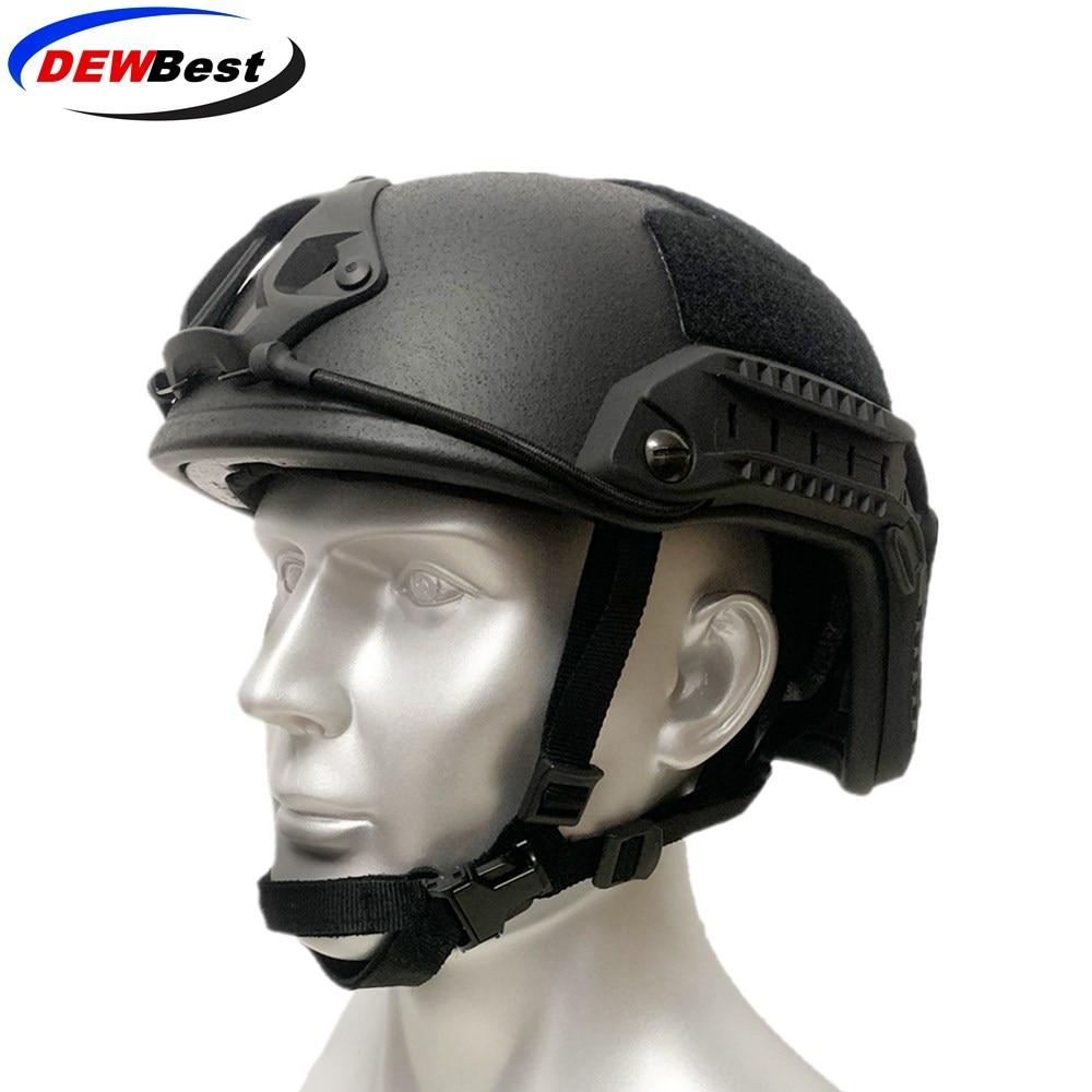 DEWBest brand factory Direct selling price of high quality aramid ballistic helmet NIJ IIIA bulletproof hat-in Safety Helmet from Security & Protection