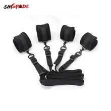 Smspade SM Sex Products Bondage Gear Kit Slave bdsm Fetish Restraint Sex Handcuffs & Ankle Cuffs Female Chastity Belt Sex Toys