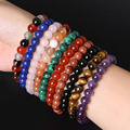 19 Styles Elastic Natural Stone Bracelet & Bangle With White Howlite Malachite Lapis Turquoise Buddha Beads Bracelets Tiger Eye