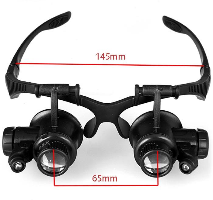 Lupa Lupas 10X 15X 20X 25X Lupa Gafas de doble ojo Lupa Lente Joyero - Instrumentos de medición - foto 1