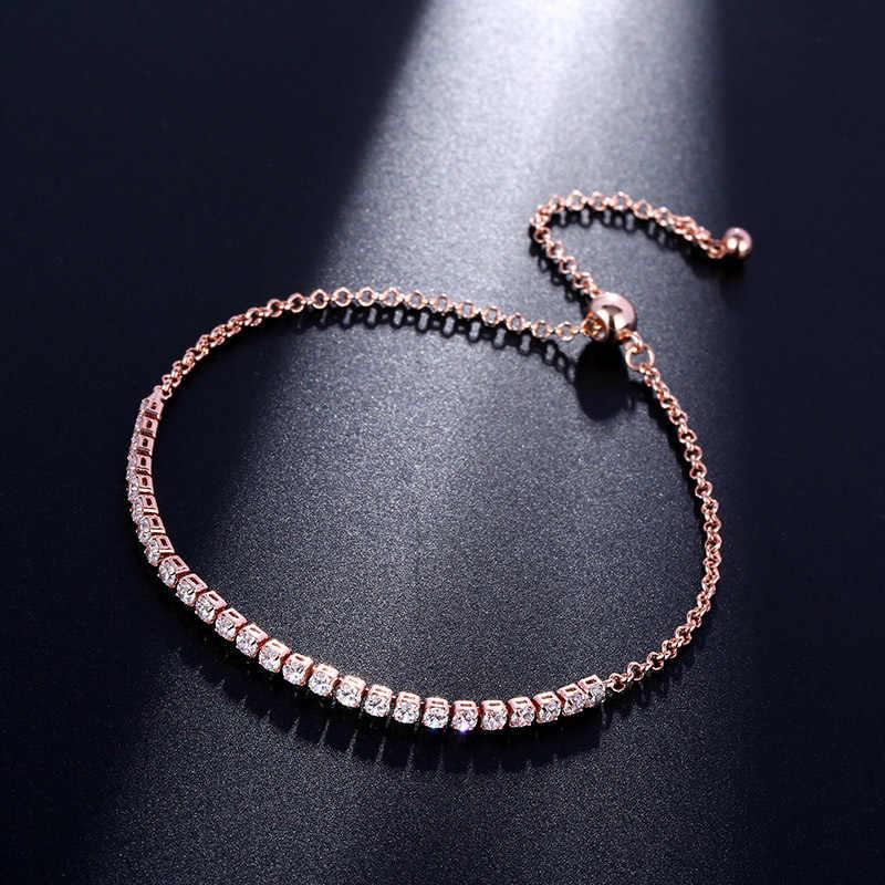 CARSINEL luksusowy styl 5 kolor 4 pazury bransoletka dla kobiet moda srebrny kolor kryształ cyrkonia bransoletka biżuteria hurtowych