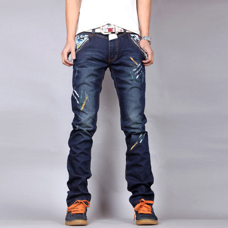 2017 Hot Sale Top Fashion Stripe Casual Jeans Homme Brand Straight Slim Denim Trousers Male Loose Printed Jeans High Quality lawaia net heavy duty fishing net for men lead sinker red line outdoor travel fishing net fish hand throw netwoek dia 2 4 7 2m