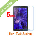 Para samsung galaxy tab active 8 pulgadas tablet pc 5 unids/lote nuevo arriba CLARO HD Glossy Protector de Pantalla Guardia Cubierta de La Película + paño de limpieza