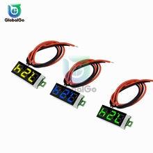 Mini voltímetro Digital de voltaje medidor de contador de Panel DC0-100V DC 2,5-30V LED pantalla Digital voltios de motocicleta DC Coche