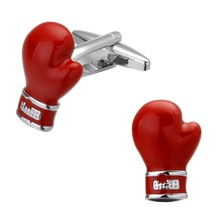 hot deal buy novelty red enamel cuff links red boxing gloves design cufflinks for mens french shirt cuff link free shipping