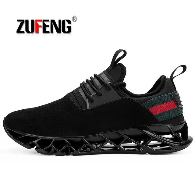 39- 46 2018 Blade Warrior running shoes generation shock absorbing runner shoes  men breathable light man sneakers shoes for men ad345fcfa78c