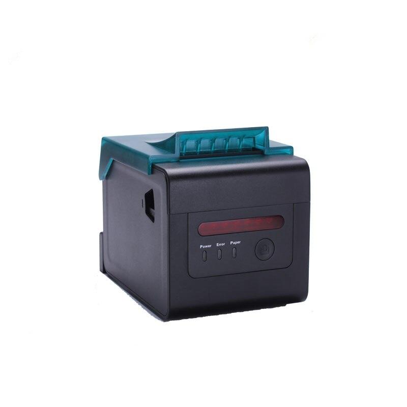 Оптовая продажа 80 мм pos серийный тепловой чековый принтер поддерживает Водонепроницаемость 300 мм Высокая скорость печати с резаком для кухн
