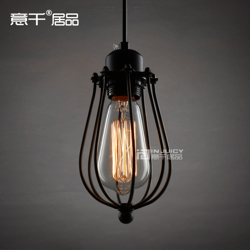 Loft Vintage Industrial Edison Metal Iron Pendant Lights Lamp Bar Shop Cafe Gallery Shop Store Pendant Lighting With T10 BULB 32cm vintage iron pendant light metal edison 3 light lighting fixture droplight cafe bar coffee shop hall store club